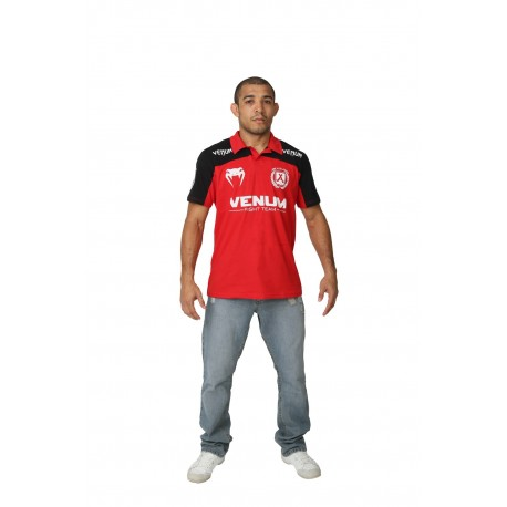 Polo Venum José Aldo Junior Signature - Rouge et Noir